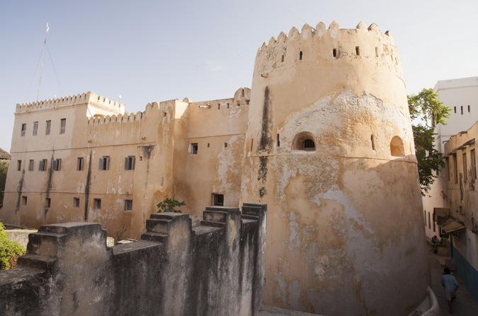 Lamu Town castle in Kenya