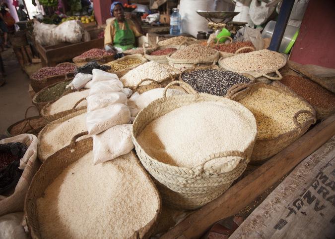 Food for sale in Lamu Town, Kenya