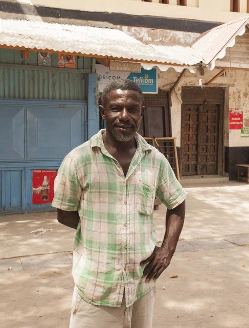 A local tourist guide in Lamu Town, Kenya