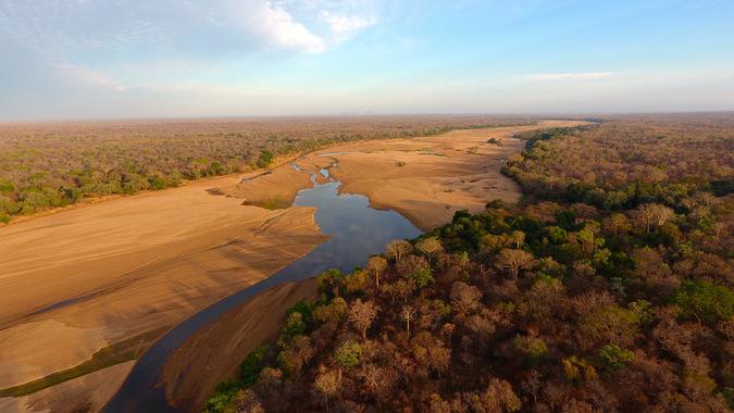 Niassa National Reserve, aerial view