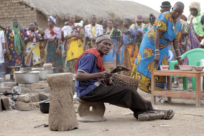Sukuma village musician in Tanzania