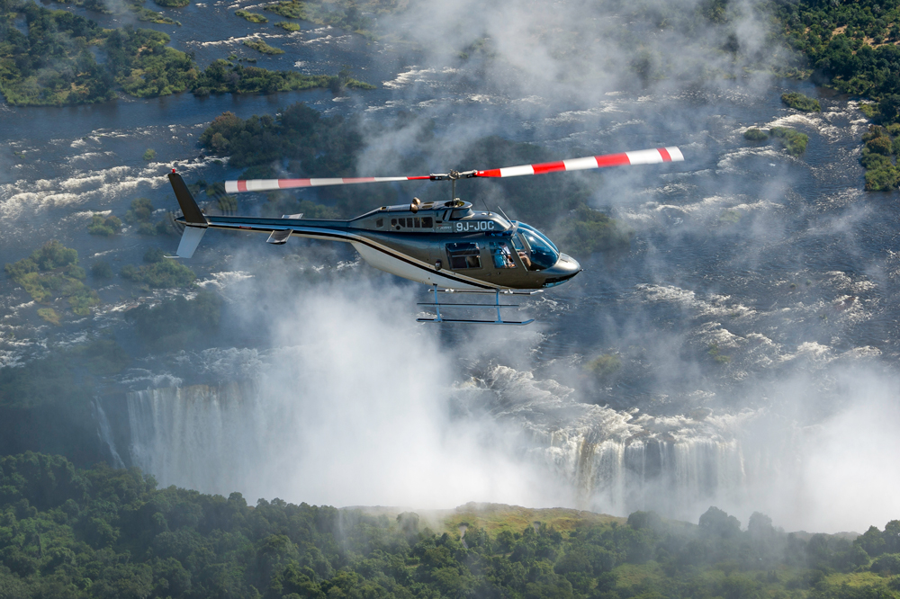 Helicopter ride, known as the 'Flight of Angels'