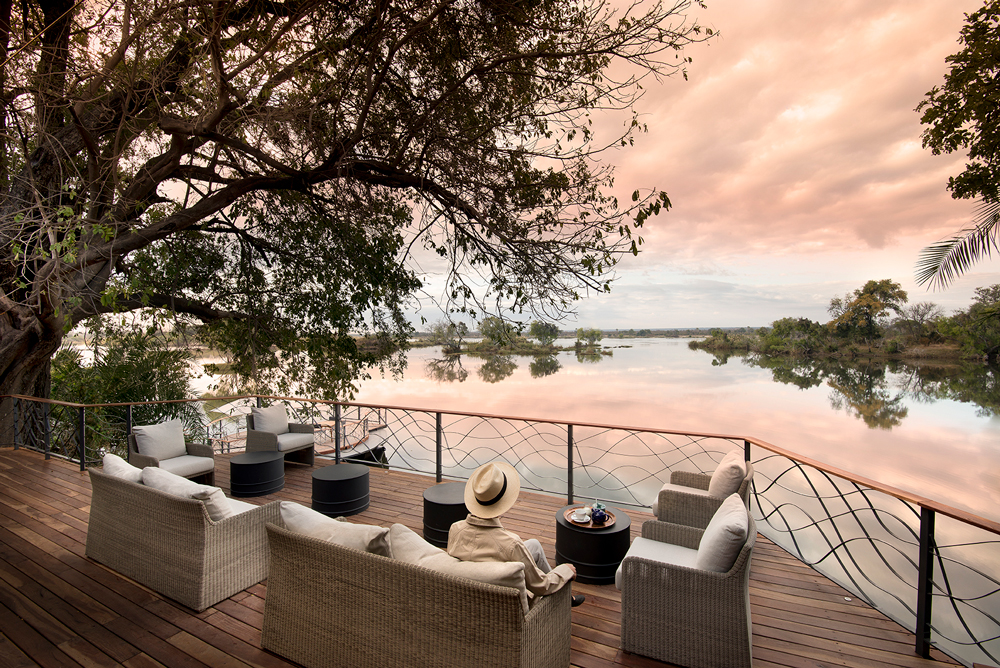 A sensational view of the Zambezi River from deck