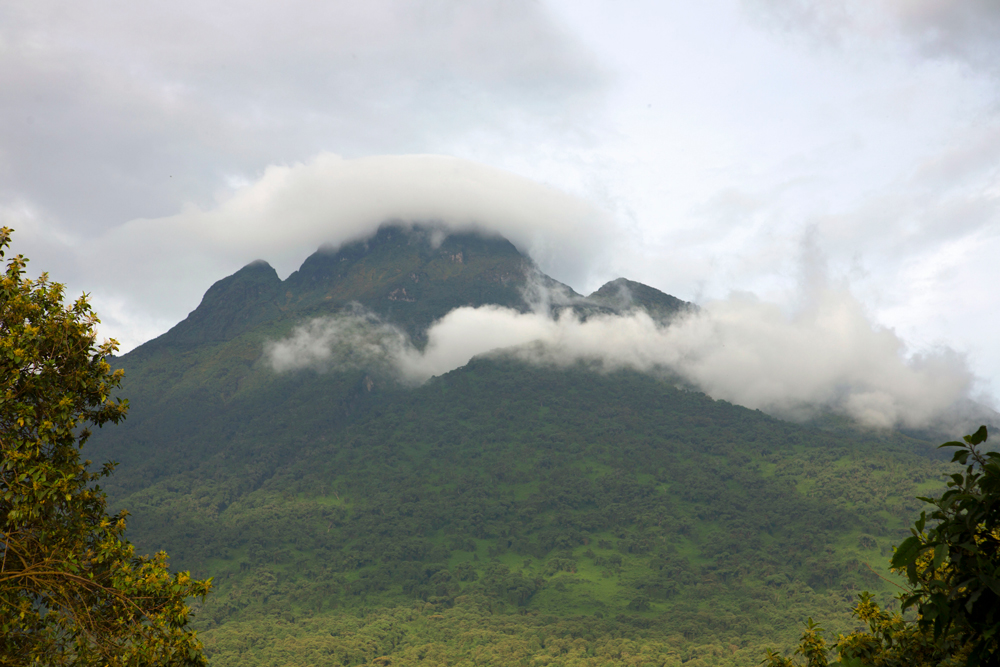The mighty Virunga Mountains