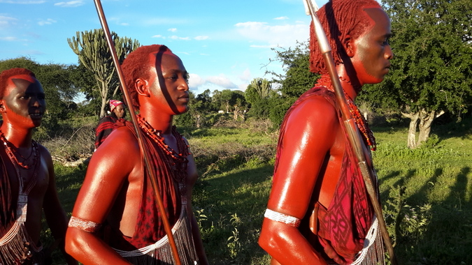 Maasai warriors during a ceremony in Tanzania