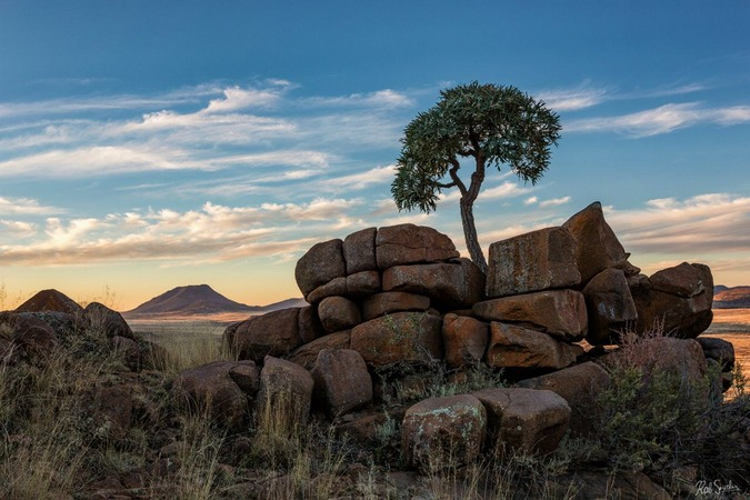 The view at Karoo Lodge Conservancy, Karoo, South Africa