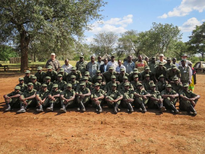 Group photo of the graduating ranger class