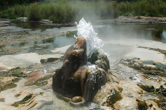Sempaya hot springs in Semuliki National Park, Uganda