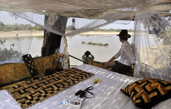Bush camp in Luangwa Valley, Zambia