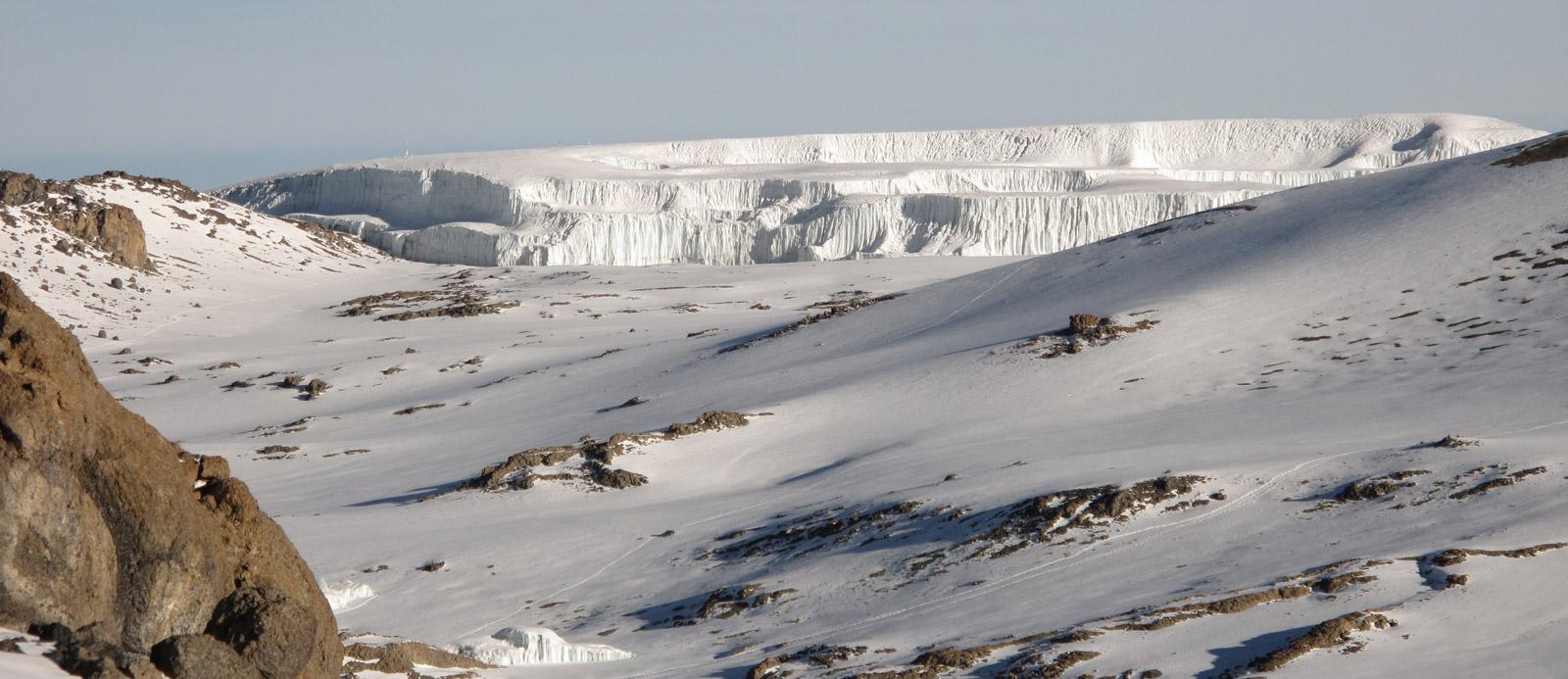 Northern Ice Field on Kilimanjaro, glacier