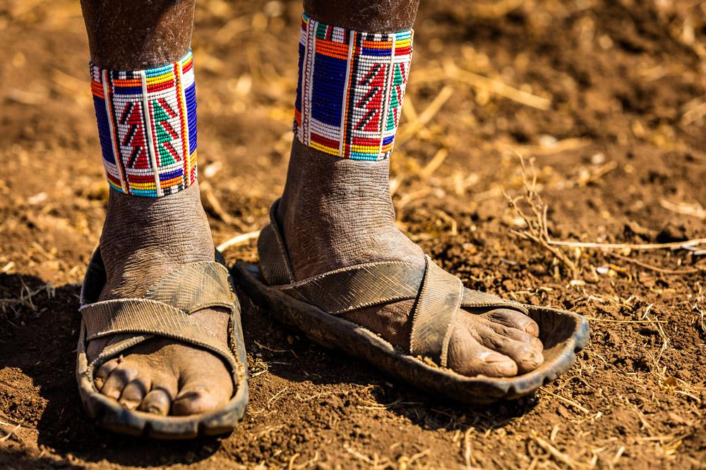 Car tyre sandals