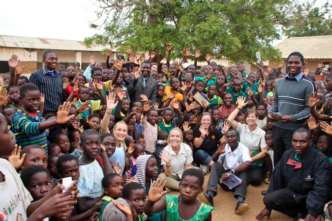 The Elephant Ignite Expedition crew at Linyangwa School in Malawi