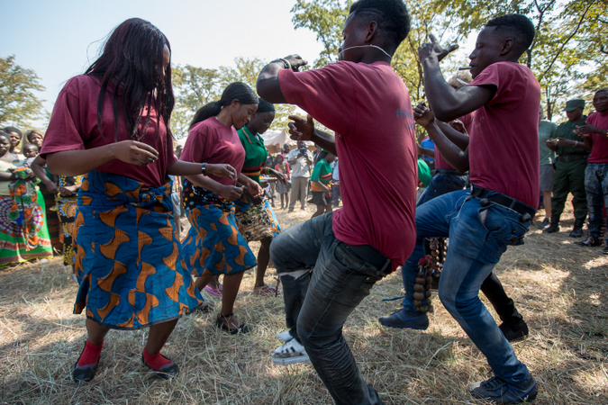 The people of Simalaha rejoiced through dance and song.