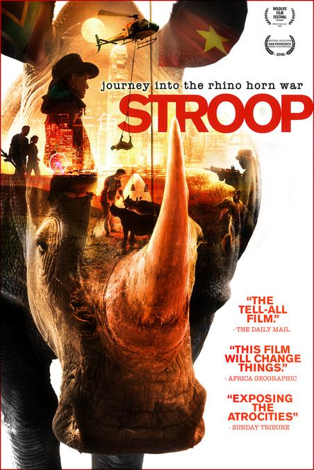 Film poster for STROOP – Journey into the Rhino Horn War