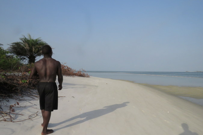 Mr Moses on Sei island, Turtle Islands, Sierra Leone