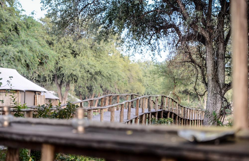 The walkway at Anabezi in Lower Zambezi