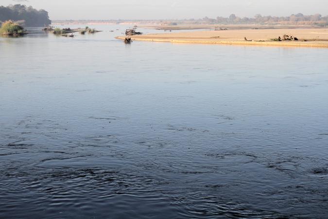 Rufiji River in Selous Game Reserve in Tanzania