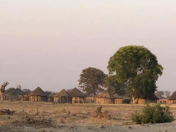 Rural village in Botswana