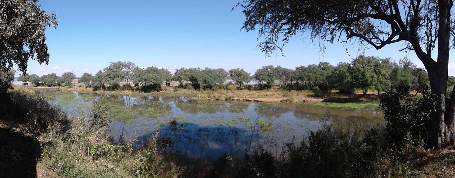 Anabezi camp views in Lower Zambezi National Park