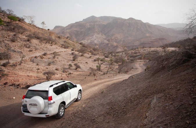 Driving towards the settlement of Bankouale in Djibouti