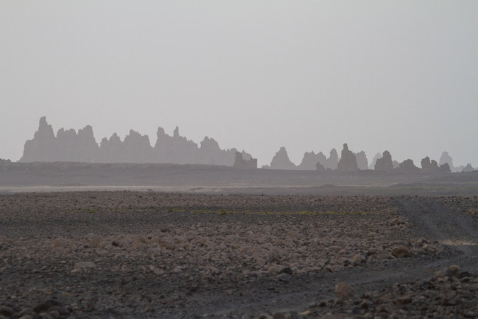 Landscape of arid Djibouti