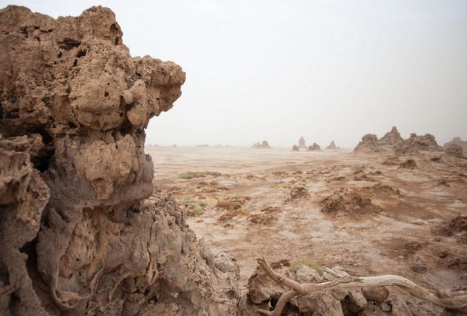 Limestone landscape in Djibouti
