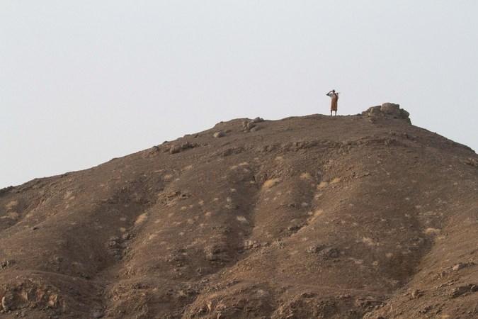 Local on a mountain in Djibouti