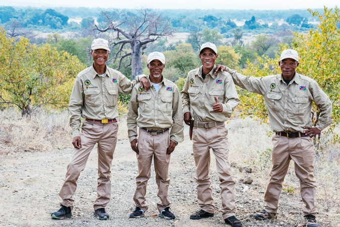 Four Master Trackers in Makuleke Concession in Kruger National Park