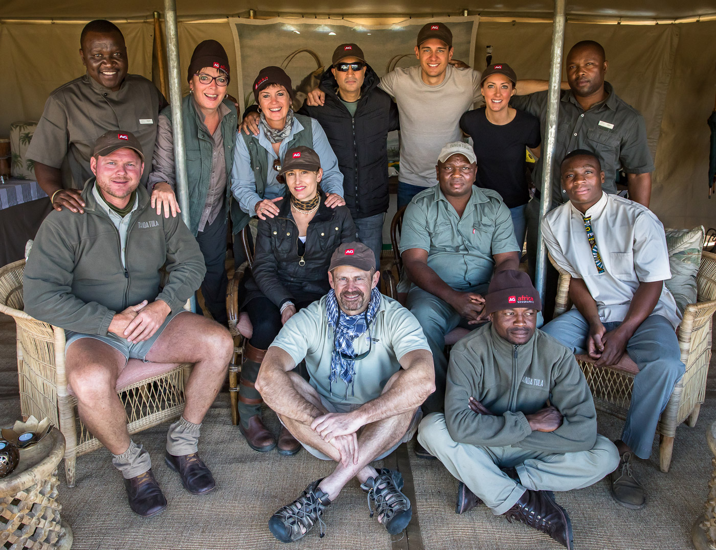 Team photo at Tanda Tula