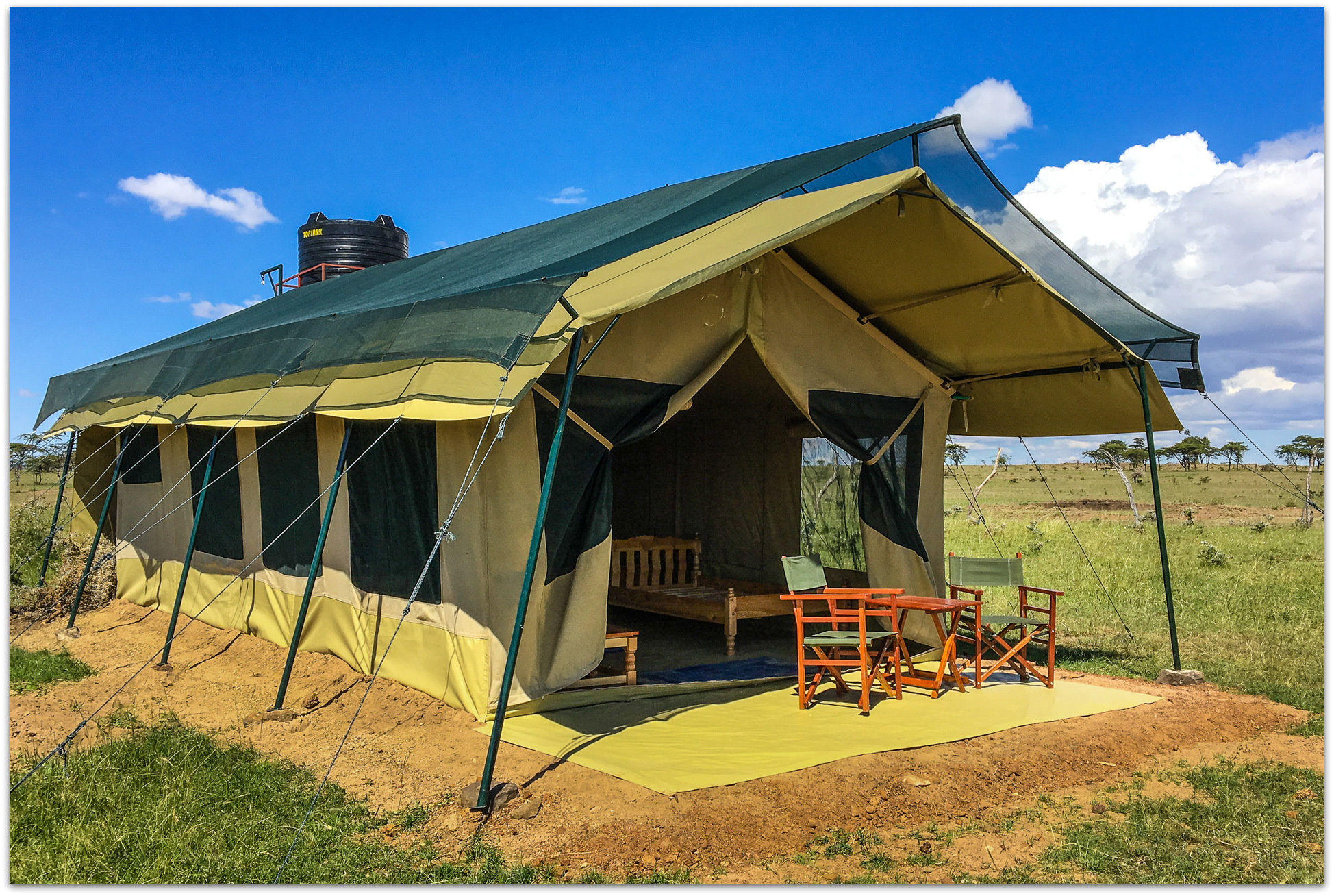 Tent accommodation in the Maasai Mara