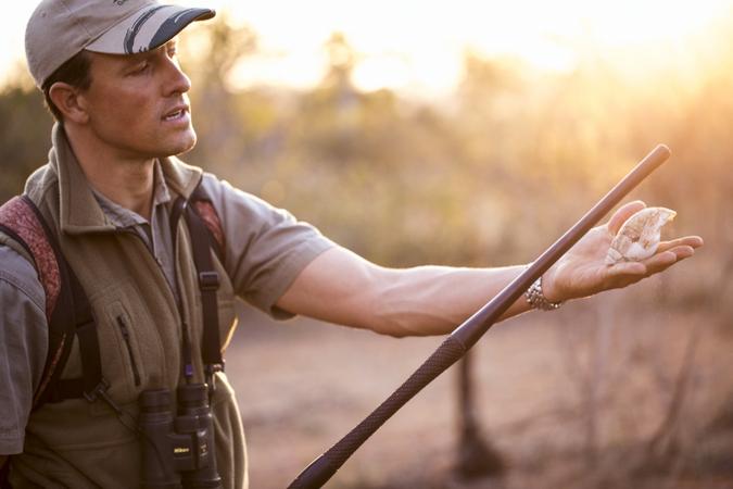 Safari guide in the bush