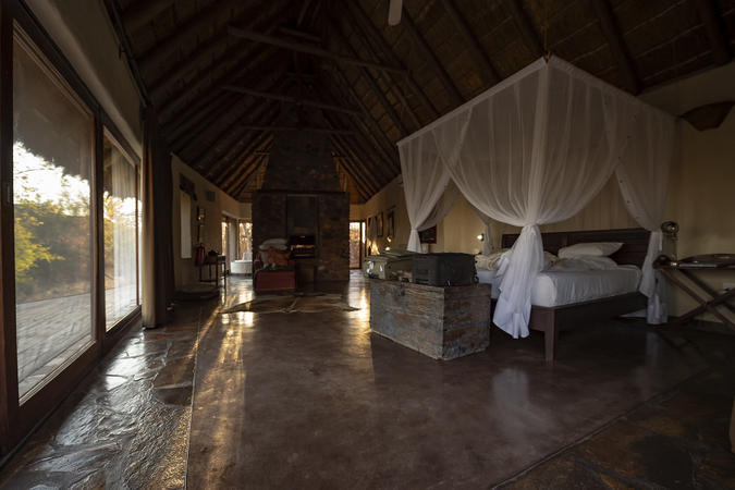 Inside the room of Kukama Lodge in Madikwe Game Reserve