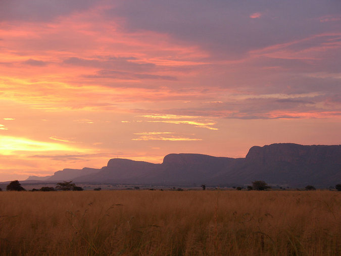 The Seven Sisters mountain range in the Waterberg in South Africa