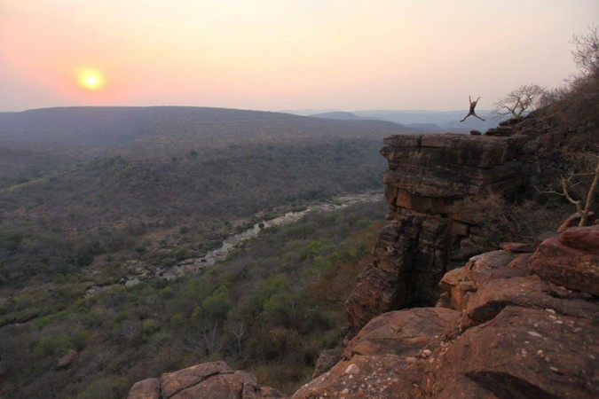 Landscape of the Waterberg in South Africa at sunset