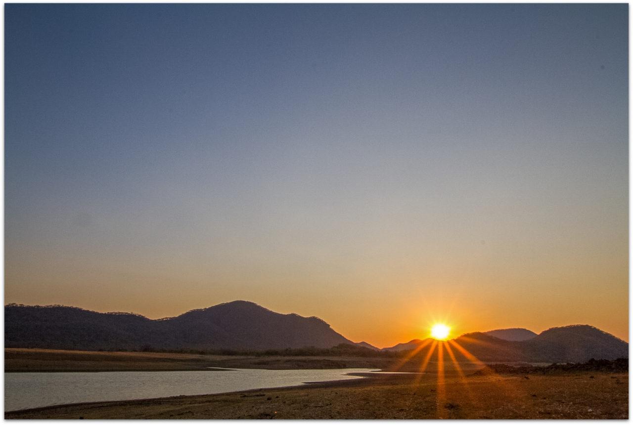Sunset at Mushandike Sanctuary