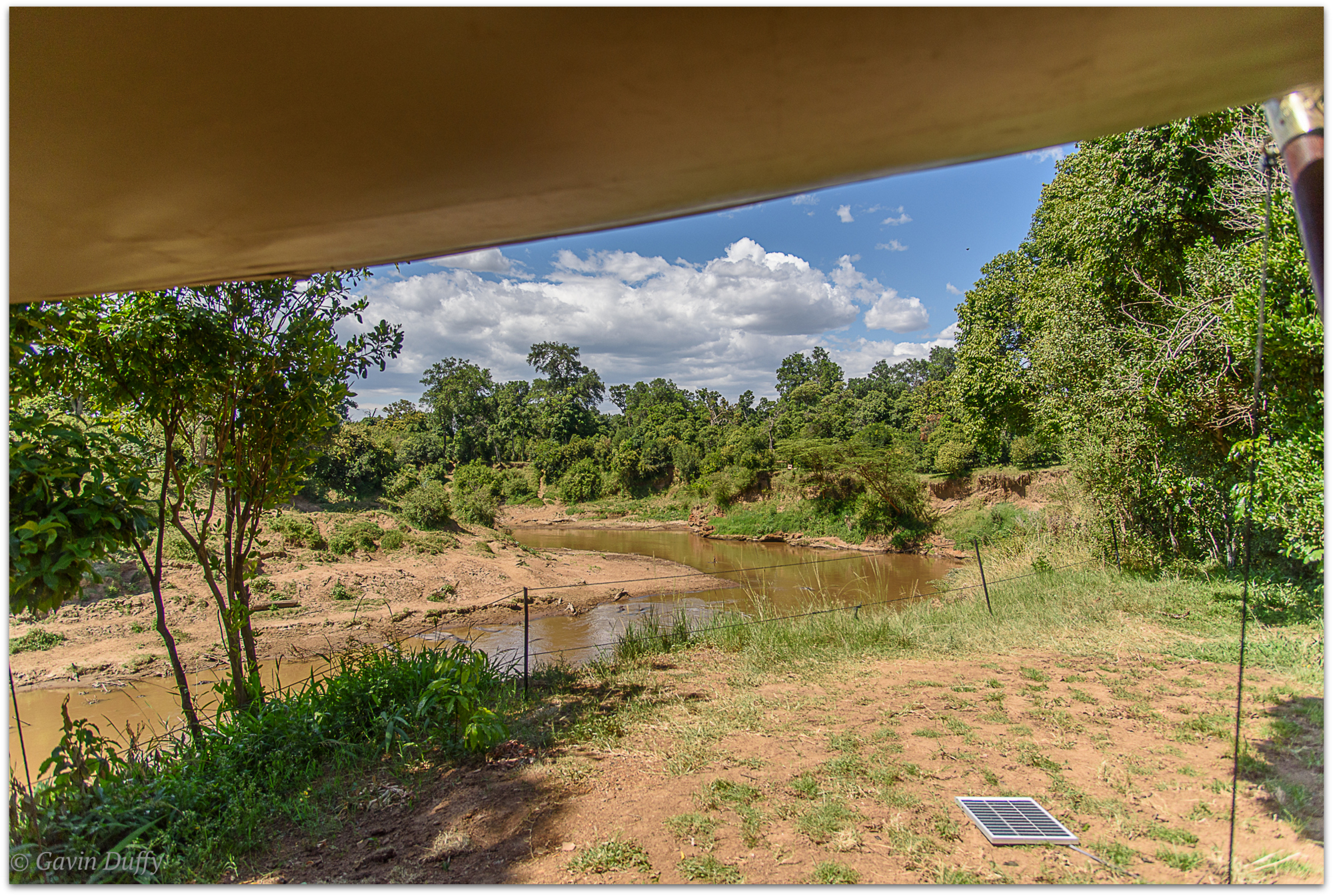 View of the Mara River from the tent © Gavin Duffy