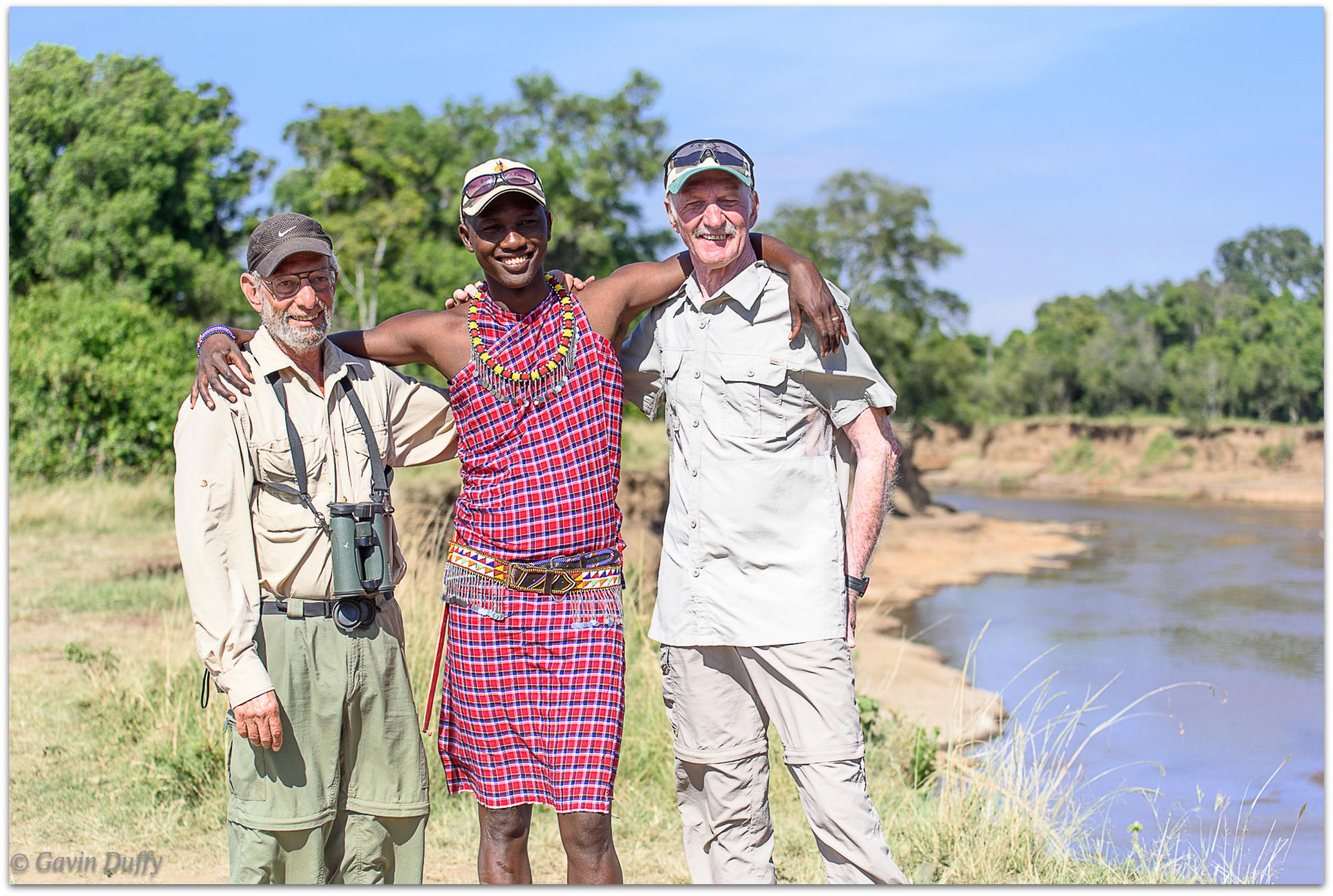 Geoff and Gavin with Jonathan, our guide © Gavin Duffy