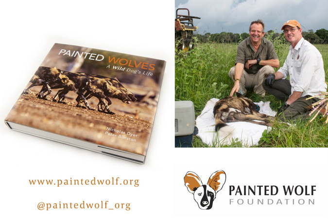 Painted Wolves book, with Painted Wolf Foundation