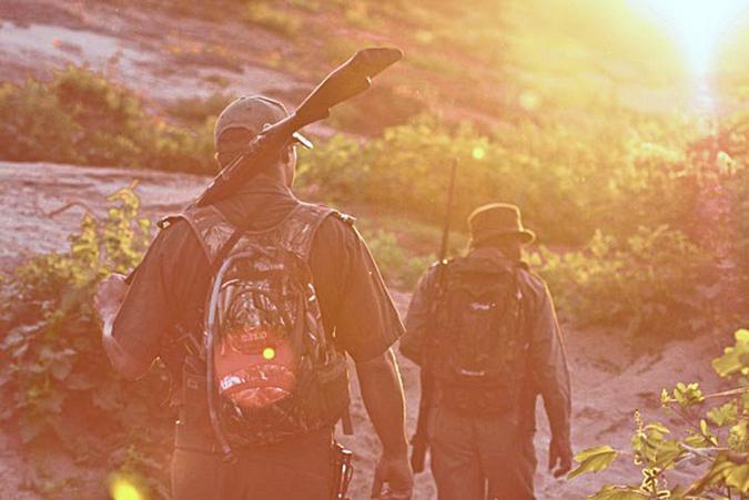 Walking safari on foot in Kruger National Park
