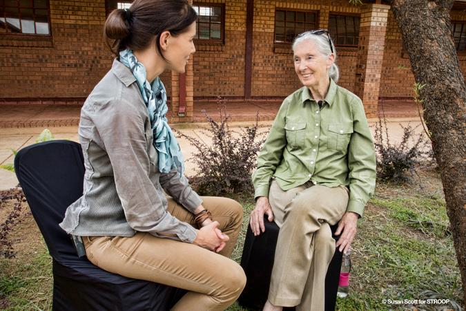 Bonné de Bod interviewing Dr. Jane Goodall