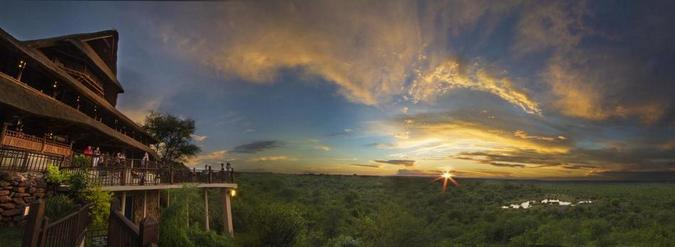 Sunset at Victoria Falls Safari Lodge