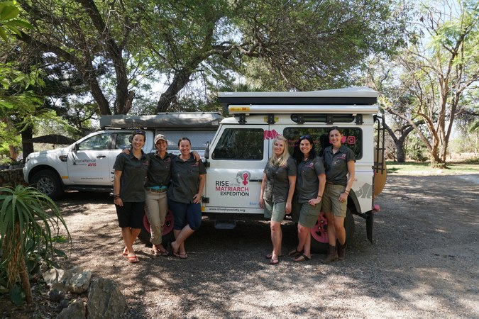 Journeys with Purpose: The Rise of the Matriarch expedition crew at Elephants Alive