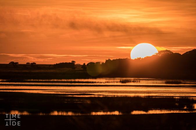 Sunset in Liuwa Plain