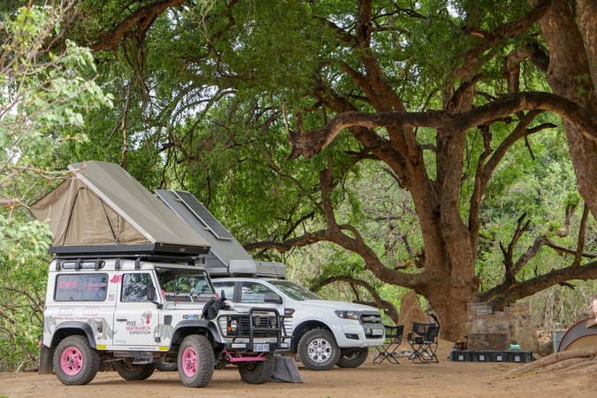 The vehicles at the Tuli campsite in Botswana