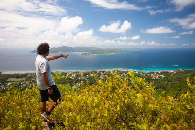 Eagles Nest is the highest point on La Digue
