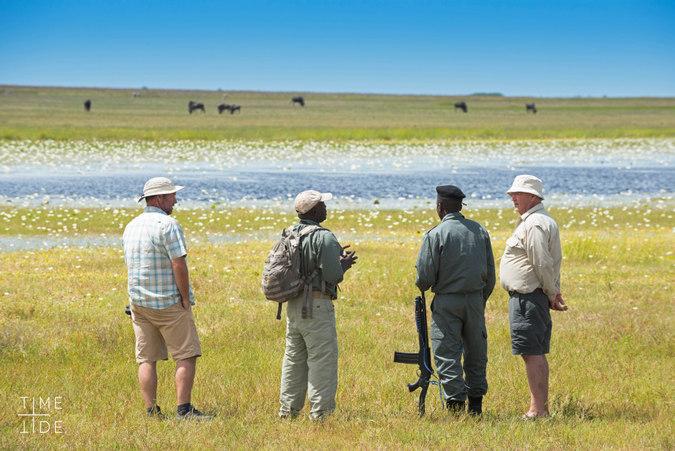 Walking safari in Liuwa Plain, Zambia