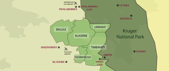 Map of Greater Kruger and Kruger National Park