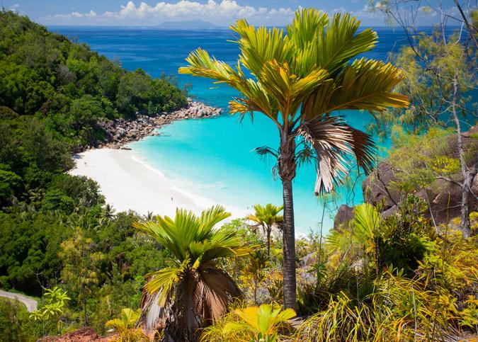 Anse Georgette in Praslin in the Seychelles