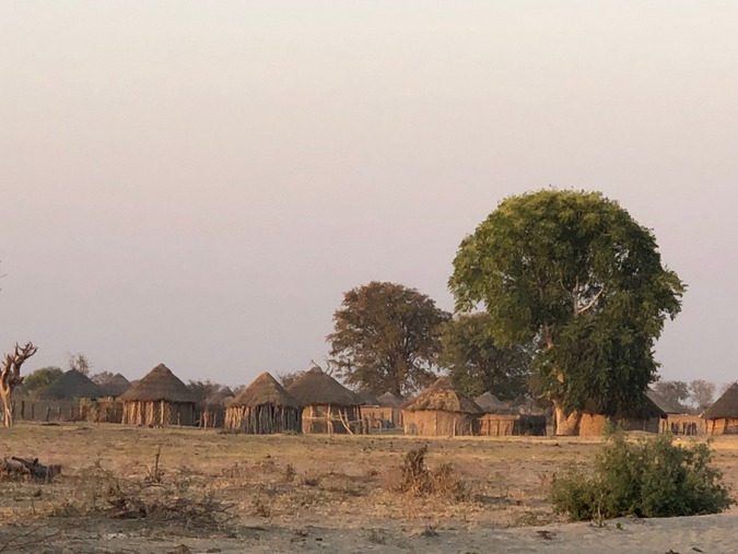 A village in Botswana