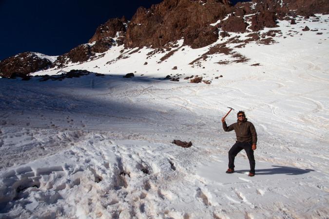 Author on Mount Toubkal, Atlas Mountains, Morocco